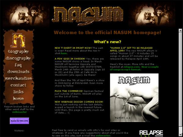 NASUM COM: Swedish grindcore since 1992